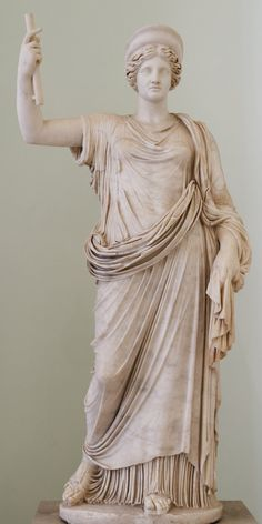 Hera_Farnese_MAN_Napoli. Statue of Hera of the Ephesus-Vienna type. Roman copy of the Imperial era after a Greek Classical original.