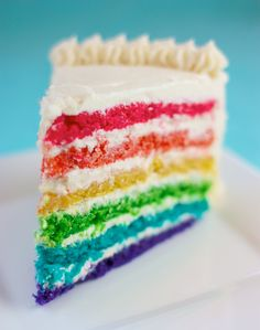 Rainbow Surprise Cake-Dairy free, egg free