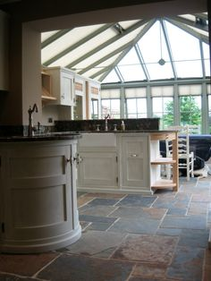 A commissioned to produce a paint effect on a Mark Wilkinson kitchen in Malmesbury