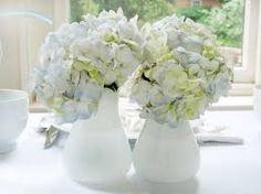 Bildergebnis für hochzeitsdeko blaue hortensien