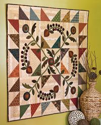 Homestead Harvest -- Awesome Wool Appliqué Wallhanging Quilt by Kim Diehl in our Sept/Oct issue of Love of Quilting!