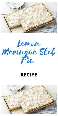 Lemon Meringue Slab Pie Recipe Heat oven to Remove pie crusts from pouches. Lemon Dessert Recipes, Lemon Recipes, Pie Recipes, Sweet Recipes, Cupcake Recipes, Cookie Recipes, Homemade Fish And Chips, Slab Cake, Lemon Meringue Pie