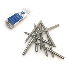 Panorama Lag Screw Hand-Crimp Swage Stud for Cable Railing Stainless Steel Marine Grade (Lot of Cable Railing, Home Improvement, Stainless Steel, Home Improvements, Interior Design, Home Improvement Projects, Home Remodeling