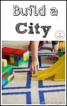 Build a city.  A great activity for preschoolers who love cars and cities!