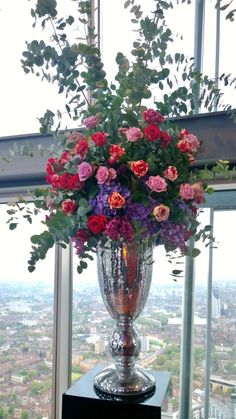 I do love these new mirror ball chalice/urns. Super fabulous against the backdrop of London from The Viewing Gallery at The Shard. Mirror Ball, The Shard, Do Love, Skates, Red Wedding, Urn, Bespoke, Bouquets, Backdrops