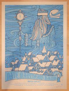 "Dave Matthews Band - silkscreen concert poster (click image for more detail) Artist: Methane Studios Venue: Multi-venue Location: Multi-city Concert Date: 2012 winter tour Size: 18"" x 24"" Edition: Art"