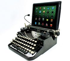 You can actually type on a sheet of paper while using the USB Typewriter - the sensor will work alongside paper, although you won't be able to see the screen