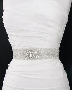 Crystal beaded bridal sash belt wedding sash by GlamHouse on Etsy, $175.00