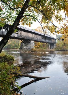 Blair Bridge in the Rain - Waterville Valley,NH