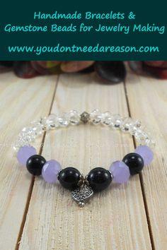 Gemstone Bracelets, Handmade Bracelets, Gemstone Beads, Jewelry Making Beads, Stretch Bracelets, Gemstones, Crystals, Blue, Gems