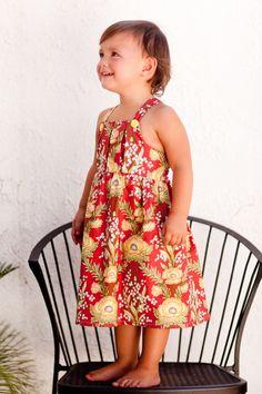 Children's dress sewing pattern - Elizabeth Pleated Dress by Sew Sweet Patterns