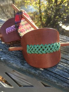 Nurse Gift  Gifts for Her  Leather Hair Stick Barrette Hair