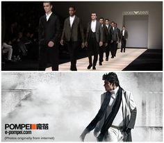 Emporio Armani is one of the brands of Armani. Different from other vice-lines, Emporio Armani is modern, natural and elegant. Colors in black, white, red and grey are its main tone, which presents trendy and simple character.  Emporio Armani @ Pompei: http://e-pompei.com/Designers/emporio-armani/men