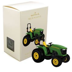 John Deere 4120 Tractor Ornament -- For over 175 years, John Deere has been known for farm equipment that embodies the American values of integrity and ingenuity. The 4120 model carries on that impres