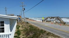 Road closed due to storm across from the Black Pelican Restaurant. Kitty Hawk, NC 5/2/15