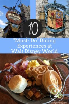 Part of a Disney vacation is getting to experience Disney restaurants. Below is a list of Disney restaurants that are tried and true for a great experience. Be Our Guest Go ahead and put their service to the test. Be Our Guest located at Disney's Magic Viaje A Disney World, Disney World Parks, Disney World Must Do, Disney Worlds, Disney World Vacation Planning, Walt Disney World Vacations, Disney Planning, Disney Travel, Trip Planning