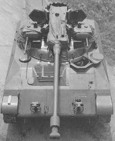 Top view of a US Army T92 light tank prototype.