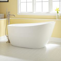 Gena Acrylic Freestanding Tub - Bathtubs - Bathroom from Signature Hardware is going into one of our home remodels.