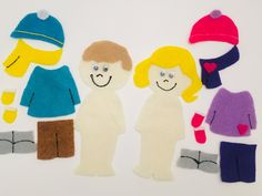 Snow Clothes Flannel Board Story by PlayToLearnWithFelt on Etsy Snow Clothes, Flannel Board Stories, Felt Stories, Snow Outfit, Circle Time, Winter Art, Girl With Hat, Art Activities, Fine Motor Skills