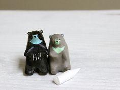 Chalkboard bears by HandyMaiden on Etsy, $34.00