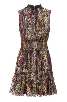 Our smocked waist sleeveless dress has been updated for the season in a watercolor snake print on our Watercolor Snake Lurex Smocked Dress. Dress Images, Rebecca Taylor, Snake Print, Smocking, Thighs, Summer Dresses, Silk, Skirts, Watercolor