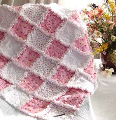 Snuggly baby rag quilt.