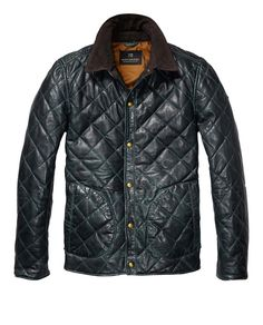 Leather Quilted Jacket - Scotch & Soda
