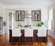 Gather inspiration and do-it-yourself ideas from these small kitchens that make the most of what they have. Clever storage ideas and smart space solutions create small kitchens that wow!