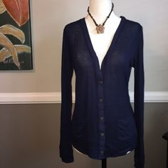 Only 1 sm left! Electric Yoga lace cardigan ⚡Lightweight cardigan is the perfect after workout accessory and pretty enough to wear with jeans or a skirt too! Electric Yoga offers unique yarns and fabrics to create both great fit and style to the new generation. Electric Yoga lace cardigan is Super cute and comfy and super functional. Navy blue. 96% polyester, 4% spandex. Don't be basic, be electric!⚡️❤️❤️️ Electric Yoga Tops