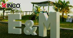 #Boda  Letras gigantes
