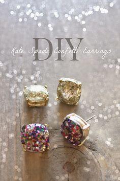 Rachel Elizabeth Creates: DIY Kate Spade Confetti Earrings