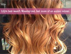 Harry Potter Next Generation Confessions - El cabello de Lily no es rojo-Weasley, es más de un color ámbar. (Nada me pertenece yo solo traduzco by: shipergirl)