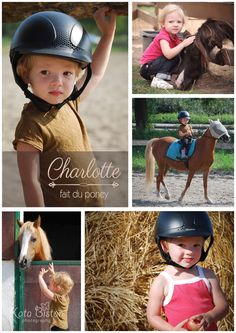 A little girl makes horse riding