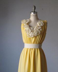 Dress / Bridesmaid / Romantic / Yellow / by AtelierSignature, $59.99