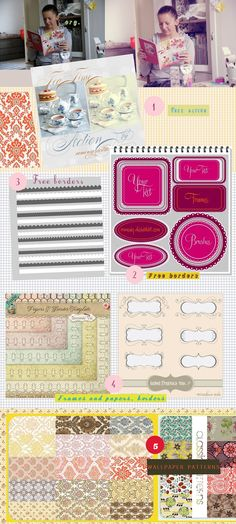 Freebies- patterns, borders, photoshop action-papers