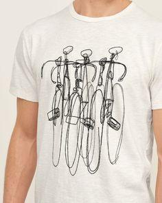 Mens - Embroidered Bike Graphic Tee | Mens - Graphic Tees | eu.Abercrombie.com Shirt Print Design, Tee Design, Shirt Designs, Graphic Shirts, Printed Shirts, Cool Shirts, Tee Shirts, Cycling T Shirts, Textiles
