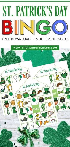 These free printable St. Patrick's Day Bingo cards are fun for kids to play a. Holiday Crafts, Holiday Fun, Free Bingo Cards, Diy Projects For Adults, St Patricks Day Crafts For Kids, Holidays With Kids, Happy Holidays, Luck Of The Irish, Business For Kids