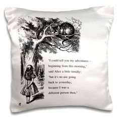 Which way ought I go from here Chesire cat - Alice in Wonderland quote - Pillow Case, 16 by Cheshire Cat Alice In Wonderland, Alice And Wonderland Quotes, Lewis Carroll Quotes, Change Is Good Quotes, My Daughter Quotes, Whisper In Your Ear, Chesire Cat, John Tenniel, Inspirational Quotes For Women