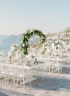 elegant blue and white wedding in stunning Santorini Romantic Weddings, Elegant Wedding, Real Weddings, Destination Weddings, Santorini Wedding, Greece Wedding, Wedding Ceremony, Wedding Venues, Cherry Blossom Wedding