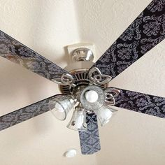 Did you know you could cover ceiling fans with vinyl?! Use our Furniture Wrap vinyl for best results!