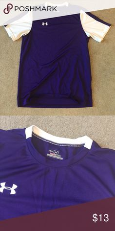 Boys purple and white under Armour tee 100% polyester. SB Under Armour Shirts & Tops Tees - Short Sleeve