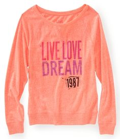 Long Sleeve Dorm Sweatshirt (in Radiant Coral)
