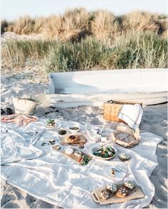 Picnic on the Hotel Stelor beach at Tofta, Gotland