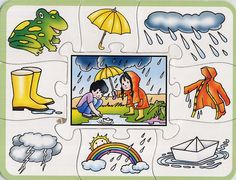 νηπιαγωγείο: εικόνες για τις τέσσερις εποχές Seasons Activities, Summer Activities For Kids, Teaching Activities, Crafts For Kids, Weather For Kids, Colegio Ideas, Teaching Weather, Kindergarten, Weather Seasons