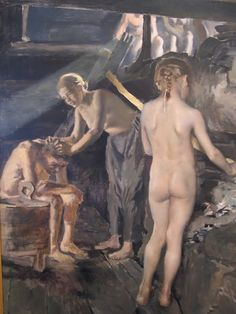 Akseli Gallen-Kallela aprilie 1865 - 7 martie pictor şi grafician finlandez - In the Sauna Figure Painting, Painting & Drawing, Figure Drawing, Google Art Project, Merian, Donia, Saunas, Art Database, Art Reproductions