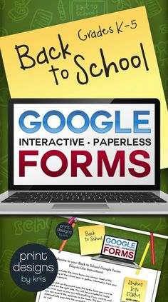 Go paperless with these Google forms for Back to School! Increase the number of parents who respond to the forms at the beginning of the school year with these easy to use informative forms.