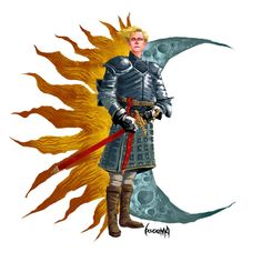 Brienne of Tarth - Game of Thrones - James Bousema, love this somewhat abstract take on this character