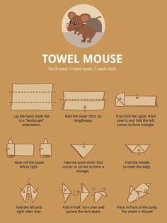 Towel Folding Infographics