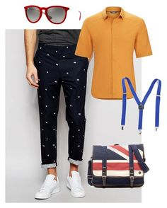 """Outfit creativo masculino"" by maria-jose-aramburu-argandar on Polyvore featuring ASOS, Arc'teryx, Ray-Ban, Ben Sherman, men's fashion y menswear"