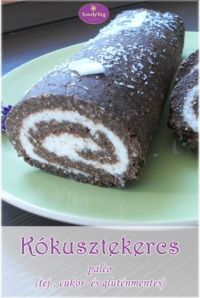Kókusztekercs Raw Cake, Paleo Sweets, Nutella, Healthy Lifestyle, Sweet Tooth, Food And Drink, Low Carb, Healthy Recipes, Vegan